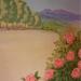 Detall de la pintura mural del dormitori